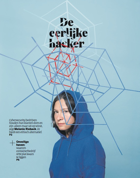 Article about Melanie Rieback In Volkskrant